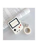 RED SHIELD [Made for Apple Airpods]  Case Cover. 3D Retro Game Box White with Ring Strap.