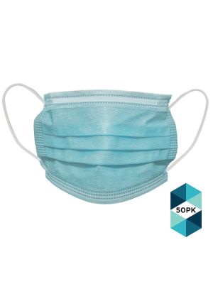Disposable Face Mask 3 Ply, Pack of 50, Breathable Lightweight & 3-Layer Masks. Parents, Friends and Family. For Pollution, Allergies, Dust & More.
