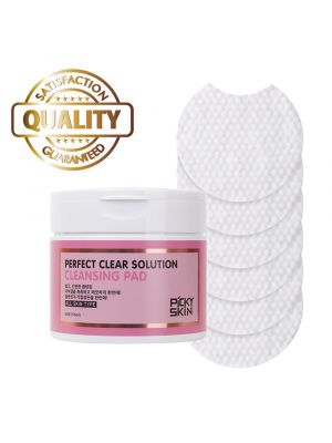 PICKYSKIN Perfect Clear Solution Cleansing Pad, Peel Pads, Facial Wipes Removes Makeup, Exfoliates and Tones, 84 Ct.