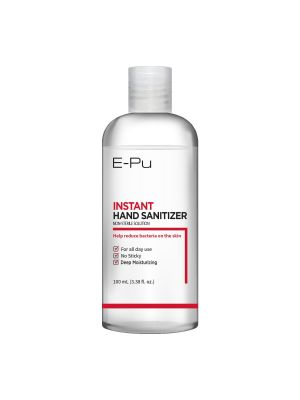 E-Pu Instant Hand Sanitizer Gel, Non-Sterile Solution, Pump Bottle Type, Reduce Bacteria Germs on Your Skin, No Sticky, Deep Moisturizing, For All Day Use, 100ml (3.38 fl oz.)