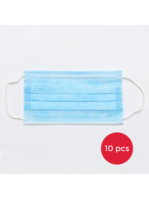NAFY Disposable Mask Breathable Nonmedical Design With Comfortable Ear Loops. 10 pcs