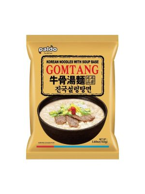 Paldo Fun & Yum Gomtang Ramen Mild Instant Noodles with Soup, Pack of 5, Beef Bone Based Broth, Savory Flavor Best Oriental Style Korean Ramyun, K-Food, 진국 설렁탕면 102g x 5 [Discontinued] [Discontinued] 2