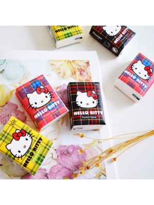 Hello Kitty Ply Pocket Pack Facial Tissue, Set of 6, Soft & Strong, Cute Character, Perfectly Portable On-The-Go Pack, Great Daily Use for Vehicles Cars Travel Home School & More