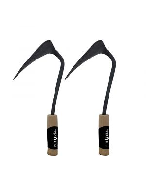 Eutuxia Premium Hand Plow Hoe. Korean Style Ho-Mi with Traditional Handmade Production Method for Best Organic Farming, Gardening & Horticulture. Wide Blade, Hand Forged.