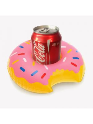 Eutuxia Inflatable Drink Holder, Set of 5, Floating Pool Drink Holders, Have More Fun with Fun & Cute Characters, Must Have Item for Summer Outdoor Home Parties, Perfect for Kids Bath Toys, Donut
