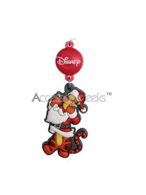 Disney Licensed Santa Clause Tigger Charm/Strap w/ Red Flashing LED