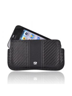 Made for Apple iPhone 3G 3GS 4 ,Horizontal Soft Case Holster Pouch w/ Removable Clip and ID Slots - Black (PUT) by Puregear