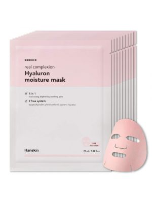 Hanskin Real Complexion Hyaluron Moisture Mask - Official 2019 Exclusive USA Exported Version [10 PK]