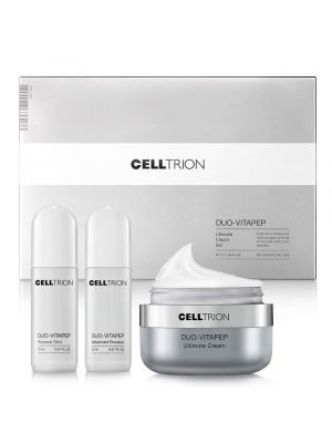 CELLTRION Duo-Vitapep Ultimate Cream Set with Ultimate Cream, Renewal Skin, and Advanced Emulsion [50 ml + 20ml x 2ea]
