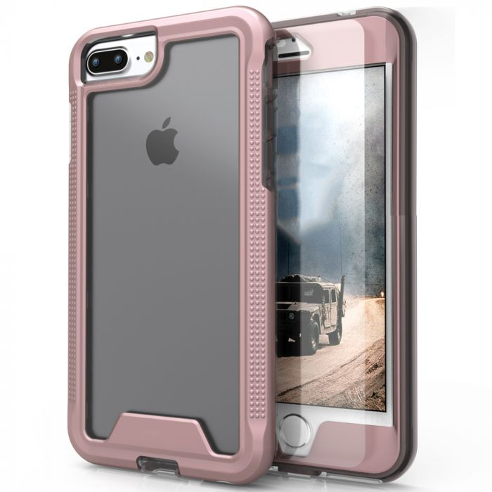 pretty nice c63f3 66eef Made for [Apple iPhone 7 Plus (5.5 inch)]-Ion Series: Single Layered  Shockproof Protection TPU & PC Hybrid Cover w/ Tempered Glass [Rose Gold/  Clear]