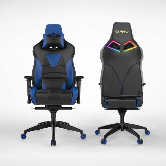 Excellent Gamdias Achilles M1 L Multifunction Pc Gaming Chair W Rgb Customizable Streaming Lighting Black Blue Alphanode Cool Chair Designs And Ideas Alphanodeonline