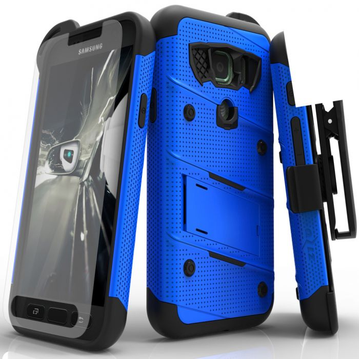 on sale c5d17 dbdf2 Made for [Samsung Galaxy S7 Active Case (Will NOT fit Samsung Galaxy  S7)]-Bolt Series: Heavy Duty Cover w/ Kickstand Holster Tempered Glass  Screen ...