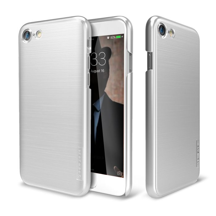 newest collection 04859 868fe Made for Apple iPhone 8/7/6S/6 Case IRONGRAM [Premium Series] Super Slim  Fit Thin Shock Resistant PC Metallic Brushed Hard Case [Silver] by Irongram