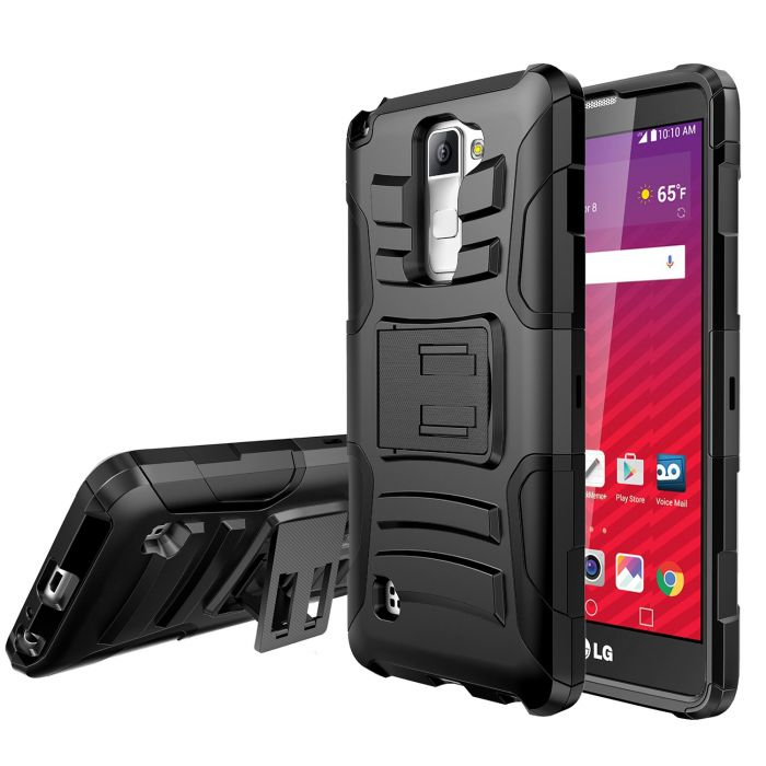 the latest ec87e 0a95d LG Stylo 2 Holster Case REDshield [Black] Supreme Protection Hard Plastic  on Silicone Skin Dual Layer Hybrid Case