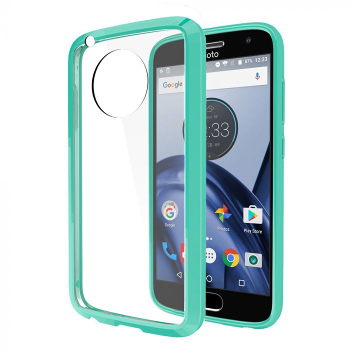 separation shoes fb895 7ca62 Motorola Moto G5 Plus Case REDshield [Mint] [Drop Protection] Crystal Back  TPU Bumper w/ Flexible Border with Travel Wallet Phone Stand