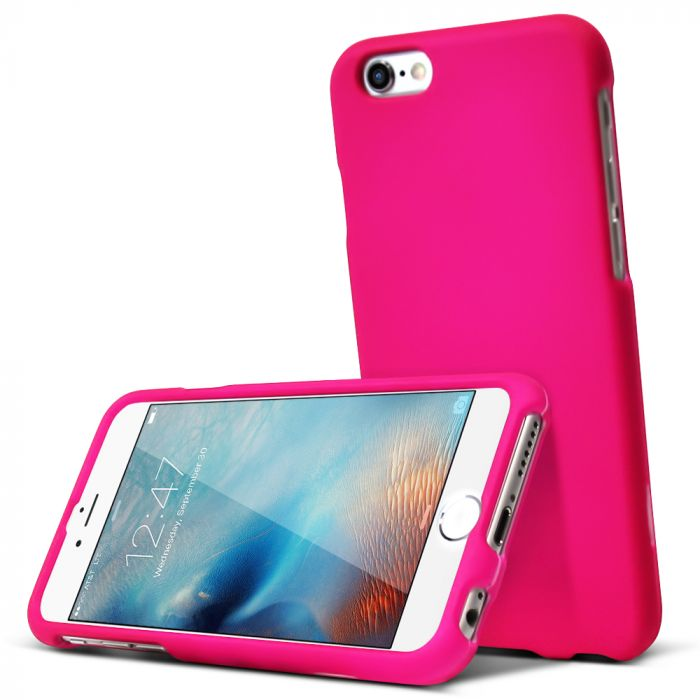 new product 8685c 896c4 Made for Apple iPhone 6/ 6S Case [Hot Pink] Slim Protective Rubberized  Matte Finish Snap-on Hard Polycarbonate Plastic Case Cover by Redshield