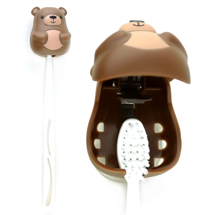 AccessoryGeeks.com | Kikkerland Brown Bear Toothbrush Holder ...