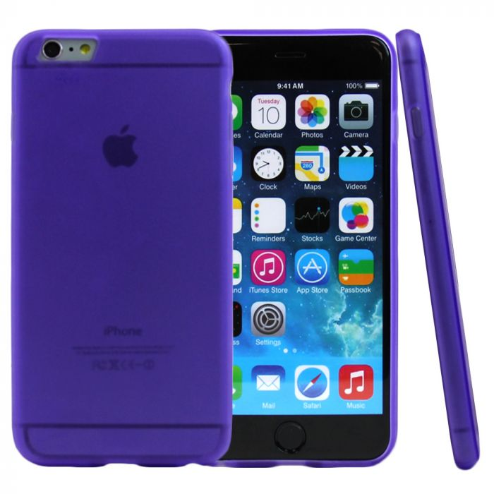 new styles d7154 36d78 Made for Apple iPhone 6 PLUS/6S PLUS (5.5 inch) Case [Purple/ Frost] Slim  Flexible Anti-shock Crystal Silicone Protective TPU Gel Skin Case Cover by  ...