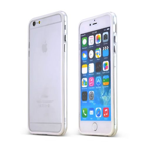 cheap for discount 0a4c1 e9cdc AccessoryGeeks.com   White Apple iPhone 6 Plus Crystal Silicone TPU ...