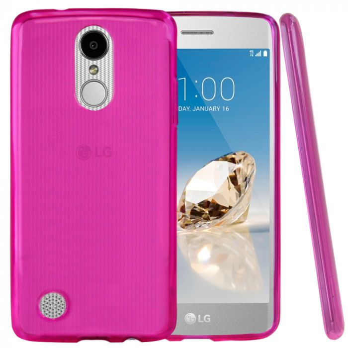 sale retailer 118ca 9c1ad LG Aristo/ Fortune Case REDshield Slim & Flexible Anti-shock Crystal  Silicone TPU Skin Protective Cover [Hot Pink]