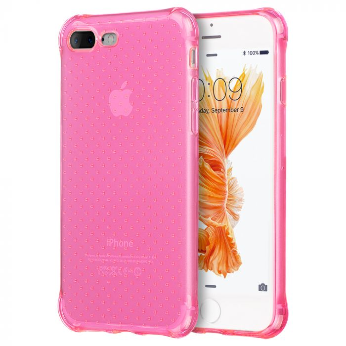 new concept 9eed2 f2bc3 Made for Apple iPhone 8/7/6S/6 Plus Case [Hot Pink] Durable Anti-shock  Crystal Silicone Protective TPU Gel Skin Case Cover with Travel Wallet  Phone ...
