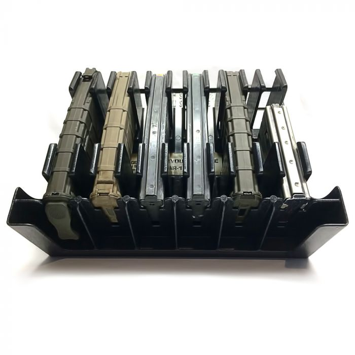 [Mag Storage Solutions] Ar-15 Magazine Holder Mag Holder Rack - Compatible  w/ Most  223 and 5 56 Caliber Mags - Holds Six 30-round Ar-15 Magazines